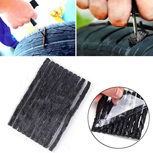 PoeHXtyy 10 stücke Autoreifen Tubeless Seal Strip Automotive Vakuum Räder Stecker Reifen Pannenreparatur Recovery Kit