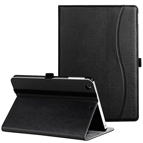 Ztotop Hülle für iPad Mini,Premium PU Kunstleder Business dünn Leichte Ständer smart Case Cover für iPad Mini 3/Mini 2/Mini 1,mit Auto Schlaf/Wach Funktion und Steckplatz,Mehrfachwinkel,Schwarz