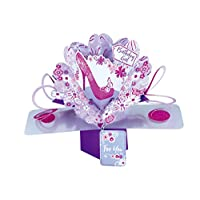 """Second Nature Pop Ups Birthday Pop up Card with""""Birthday Girl"""" Lettering and Pink Shoe"""