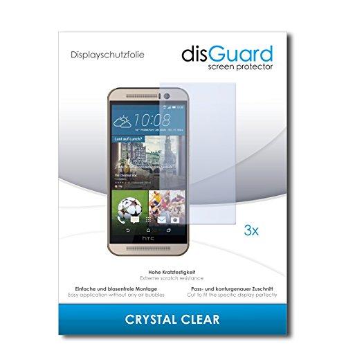 disGuard® Bildschirmschutzfolie [Crystal Clear] kompatibel mit HTC One M9s [3 Stück] Kristallklar, Transparent, Unsichtbar, Extrem Kratzfest, Anti-Fingerabdruck - Panzerglas Folie, Schutzfolie
