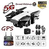 Mallalah GPS 5G WiFi FPV RC Drone avec Caméra Grand Angle HD 1080p 300M-500M...