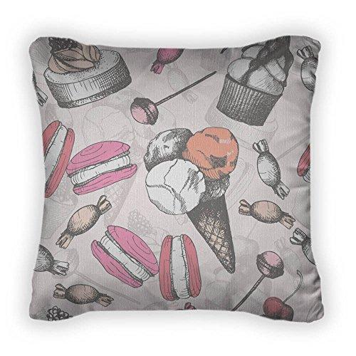Unbekannt B Lyster Shop g261j Sweet Kuchen und Süßigkeiten Kissenbezüge Home Dekoration Kissenbezug 18x 18 -