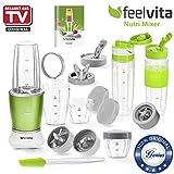 Genius Feelvita Nutri Mixer | 20 Teile | Stand-Mixer | Smoothie-Maker | Mixen | Rühren | 23000 UpM | 600 Watt | 1 Liter | Bekannt aus TV | NEU