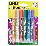 UHU Glitter Glue Original 6x10ml