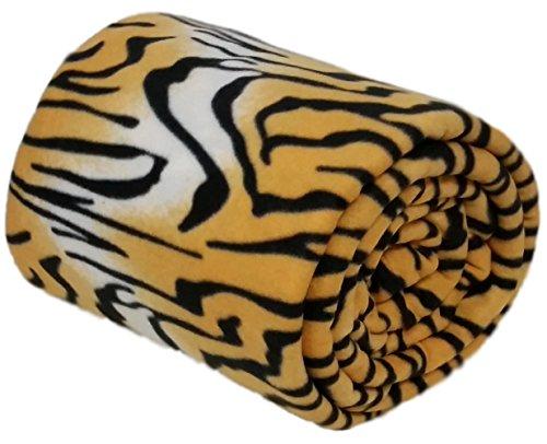 A-Express® Brown (Jumbo King – 254cm x 265cm) Wildlife Animal Print Warm Soft Fleece Sofa Cover Bed Blanket Throw