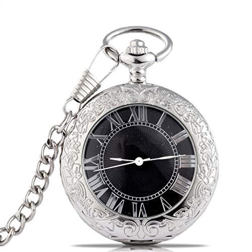 Taschenuhr Jue Mechanische Retro Durchbrochene Geschnitzte Flip Student Halskette Tabelle römische Skala Geburtstag Urlaub Gedenkgeschenk, antike Uhr