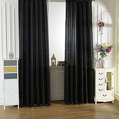 Hoobo New Rod Pocket Top Solid Color Satin Curtain Panel