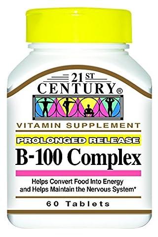 21st Century B-100 Complex Prolonged Release Caplets, 60-Count
