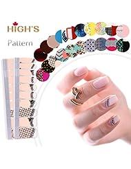HIGH'S Pattern Series 2016 Collection de printemps Manucure ongles autocollants ongles Wraps, Doux r¨ºve