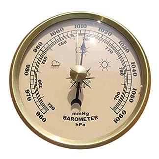 Barómetro Termómetro analógico grómetro Indicador de presión portátil de Metal Temperatura Precisión atmosférica para el hogar Multifunción Colgante de Pared Estación meteorológica Humedad