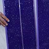 Bathroom wall Panels Splashbacks-PVC-shower cladding wall and ceiling Panels Splashbacks - purple sparkle with silver-100% Waterproof-By Claddtech (4 Panel Pack)