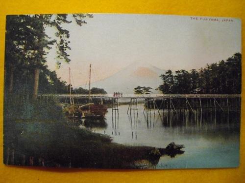 Antigua Postal - Old Postcard : The Fujiyama - JAPÓN