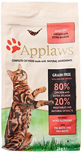 Ohne Katzenfutter Getreide (Applaws Katze Trockenfutter mit Hühnchen & Lachs, 1er Pack (1 x 2 kg))