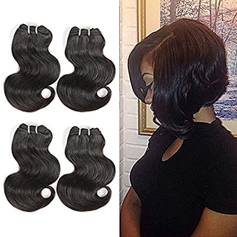 BLISSHAIR 6Pcs Brazilian Virgin Hair Body Wave 10