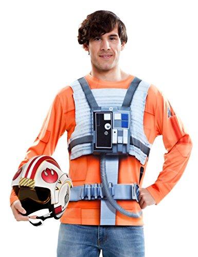 viving Kostüme viving costumes231009Luke Skywalker Herren Lange Ärmel T-Shirt (mittel) (Luke Skywalker Kostüm Für Herren)