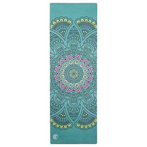 Silly.con Premium Yogamatte Tragegurt, jadegrün, mit Mandala-Motiv, aus Naturkautschuk + Mikrofaser, ca. 183 x 61 x 0,4 cm Esterilla, Unisex, Verde Jade, Medium