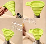 Collapsible and Easy to Store Silicone Funnel for Kitchen(Color May Vary)