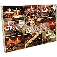 Handelshaus Huber-Kölle 1059 Maxi Duftkerzen Adventskalender, Wachs, bunt, 50 x 35.4 x 4 cm