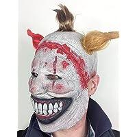 Rubber Johnnies TM Scary Twisted Clown Story Latex Mask Halloween Horror Freak Fancy Dress Costume