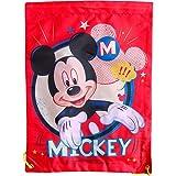 Boy's Disney Mickey Mouse Red Drawstring School Sports Gym & Swimming Bag