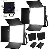 HWAMART ® (2x1024AL) KIT 2x 1024AL LED Dimmbare Panel LCD Touch Screen LED-Video-Studio 4 Filmen Beleuchtung flimmerfreie