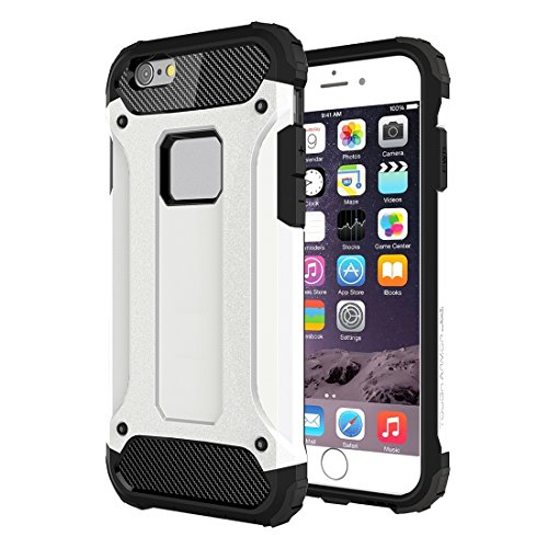GHC Cases & Covers, Tough Armor TPU + PC Kombi-Gehäuse für iPhone 6 & 6s ( Color : Red ) White