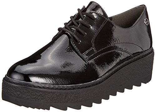 Tamaris Damen 23703 Oxfords Schwarz (Black Pat. Uni 019) 37 EU