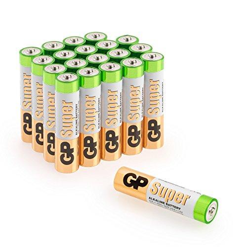 Batterien AAA Micro GP Super Alkaline Vorratspack 20 Stück [Markenprodukt GP Batteries]