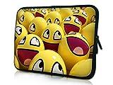 13-13.3 Zoll Tablet Hülle, laptoptasche - zoll Fall Neopren für Notebooks Dell HP Macbook Samsung Apple Toshiba (13 smiley faces)