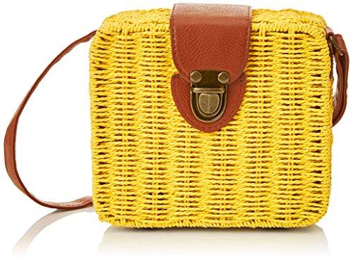 Pepaloves - Angled Minibasket, borsa Donna Giallo (giallo)