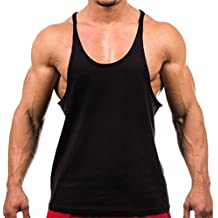 Laitb Camisetas Sin Manga Tirantes de Algodòn Deportivo Gimnasio Fitness Running Tops Camisetas T-Shirts Chaleco Suelto para Hombre