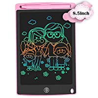HOMESTEC LCD Writing Tablet,8.5 inch Colourful Drawing Board Graphic Tablet Lock-Key Handwriting Doodle Drawing Pad Kids Toys Gifts for Boys Girls(Pink)