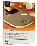 TCM Tchibo Digitale Küchenwaage, 5 bis 5.000 gr., Edelstahl