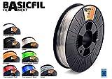 Basicfil PET  1.75mm, 500 gr filament pour imprimate 3D, Transparent