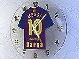 UEFA CHAMPIONS LEAGUE - fútbol KIT relojes de pared equipos - cualquier nombre, cualquier número, cualquier equipo! BARCELONA FC FOOTBALL TEAM Talla:250mm Circular