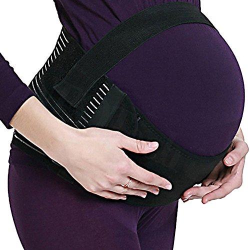Schwangerschaftsbandage Bauchband Weiche Atmungsaktive aus Baumwolle Bauch Rücken Unterstützung für Schwangeren (M, Schwarz)