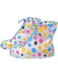 Coloridos zapatos para la lluvia ajustables cubierta impermeable