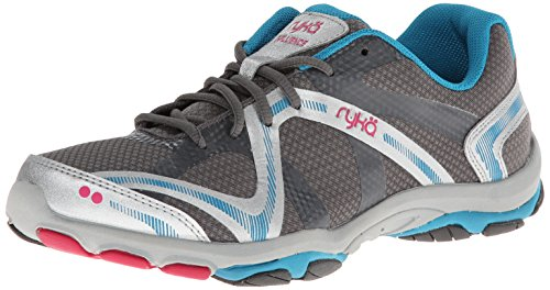 Ryka Damen Influence, w, Steel Grey/Chrome Silver/Diver Blue/Zuma Pink, 37.5 EU