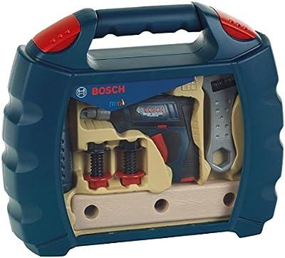 Bosch - Maletín de herramientas con atornillador de acumuladores de juguete, color azul (Theo Klein 8262)