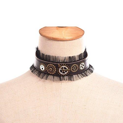 mpunk Lace Armband Damen Königin Party Halskette (Mehrfarbig 3) (Adult Viktorianischen Vampir Kostüme)