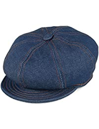 4597ac41fc4 Village Hats New York Hat Co. Denim Stitch Baker Boy Cap - Denim
