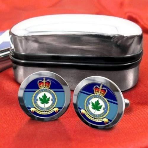5 Royal Air Force Chrome Squadron Boutons de manchette pour homme avec coffret cadeau