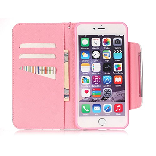 iPhone 6S Plus Hülle, iPhone 6 Plus Hülle, ISAKEN iPhone 6S Plus /6 Plus Hülle Muster, Handy Case Cover Tasche for iPhone 6S Plus / 6 Plus, Bunte Retro Muster Druck Flip Cover PU Leder Tasche Case Sch Dream Catcher