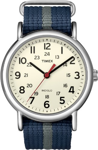 Timex Herren-Armbanduhr Special Weekender Slip Through Analog Quarz T2N654PF (Timex Uhren Ironman)
