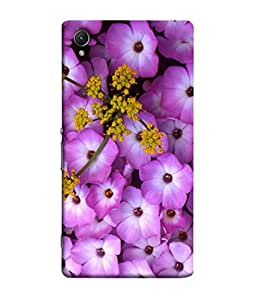 PrintVisa Hot Purple Floral 3D Hard Polycarbonate Designer Back Case Cover for Sony Xperia X :: Sony Xperia X Dual F5122