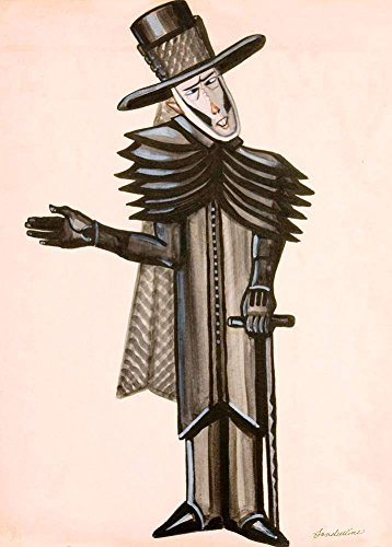 Serge Sudeikin Kostüm Design für Dickens Christmas Bells, 1937, 250gsm, Hochglanz, A3, vervielfältigtes Poster