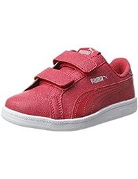 Puma Unisex-Kinder Smash Glitzsl Jr Sneaker, Rot (Toreador-Toreador), 36 EU