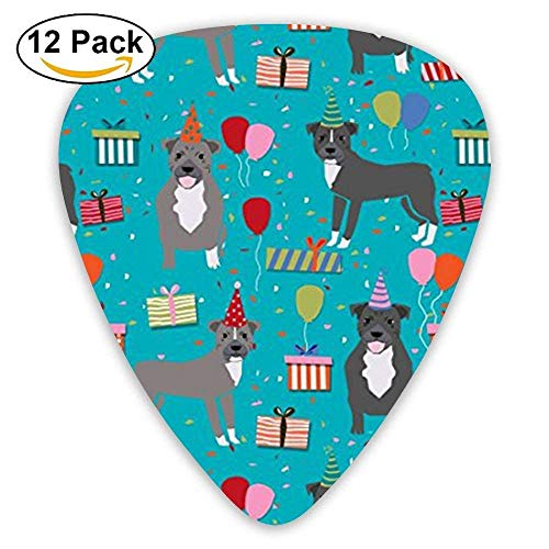 Pitbull Birthday Party Blue Christmas Guitar Picks For Electric Guitar 12 Pack