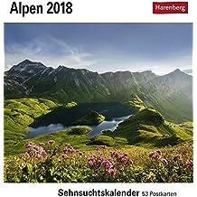 Alpen - Kalender 2018: Sehnsuchtskalender, 53 Postkarten