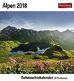 Alpen - Kalender 2018: Sehnsuchtskalender, 53 Postkarten -